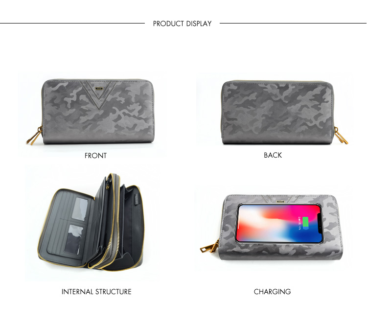 qi wireless charging wallet